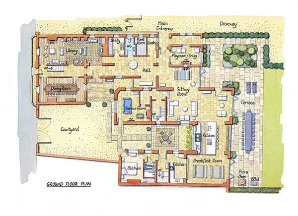 Caradon - Ground Floor Plan600